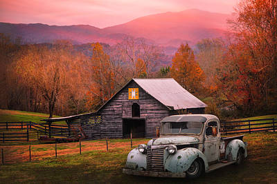 Photograph - All American Chevy On An Autumn Evening by Debra and Dave Vanderlaan