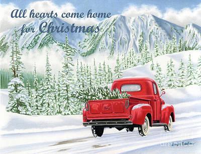 All Hearts Come Home For Christmas Cards Original
