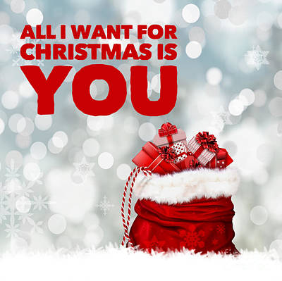 Digital Art Rights Managed Images - All I Want For Christmas is You Royalty-Free Image by Esoterica Art Agency