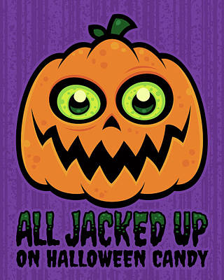 Royalty-Free and Rights-Managed Images - All Jacked Up on Halloween Candy Jack-O-Lantern by John Schwegel