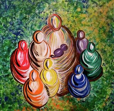 Painting - All My Relations by Simran Singh