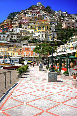 Photograph - All Roads Lead Up In Positano by John Rizzuto