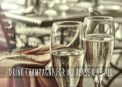Photograph - All Sparkling Quote by JAMART Photography