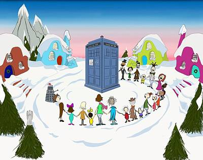 Impressionist Landscapes - All The Whos down in whoville  by Patrick Byrnes