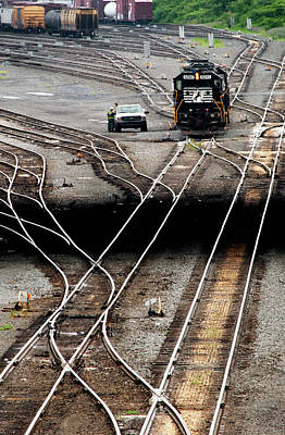 Photograph - All Tracks Lead To The Enola Yards by Paul W Faust - Impressions of Light