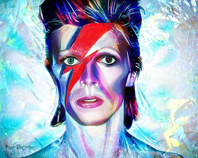 Digital Art - Aladdin Sane by Pennie McCracken