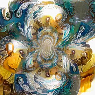 Surrealism Digital Art - Allegory of open mind by Bruce Rolff