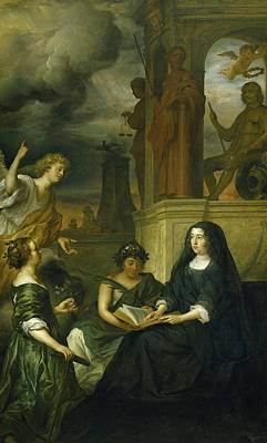 Painting - Allegory On The Memory Of Frederik Hendrik by Govert Flinck