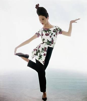 Photograph - Allegra Kent In Lucie Ann Pajamas by Bert Stern