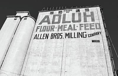 Photograph - Allen Bros. Milling B W by Joseph C Hinson Photography