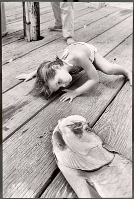 Trapped Photograph - Allen Cooks Daughter Looking At The by Alfred Eisenstaedt