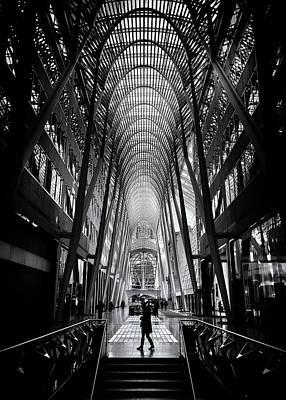 Art Print featuring the photograph Allen Lambert Galleria Toronto Canada No 2 by Brian Carson