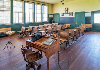 Photograph - Allensworth School House - Allensworth State Park by Gene Parks