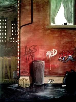 Painting - Alley Cat by John Lyes