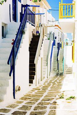 Photograph - Alley In Mykonos, Greece, Cyclades by Deimagine