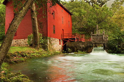 Photograph - Alley Spring Grist Mill  by Gregory Ballos