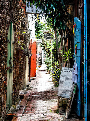 Photograph - Alleyway To Gladys' Cafe  by Max Huber
