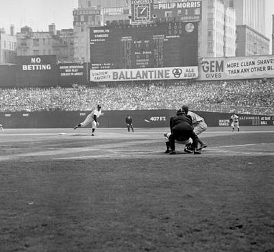 The Bronx Photograph - Allie Reynolds Of The Yankees At The by New York Daily News Archive
