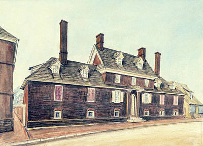 Drawing - Almshouse In Walnut Street by William Breton