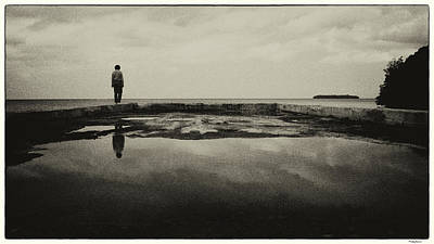 Photograph - Alone 133bw by Rudy Umans