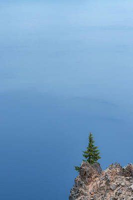 Crater Lake Wall Art - Photograph - Alone At Crater Lake by Joseph Smith