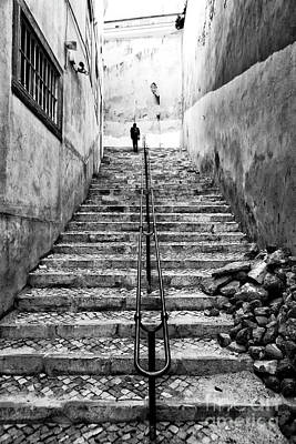 Photograph - Alone At The Top In Lisbon by John Rizzuto