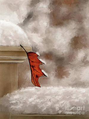 Digital Art - Alone Painterly by Lois Bryan