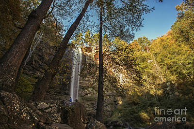 Photograph - Alone with the waterfall by Marilyn Nieves