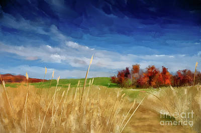 Digital Art - Along A Country Lane by Lois Bryan