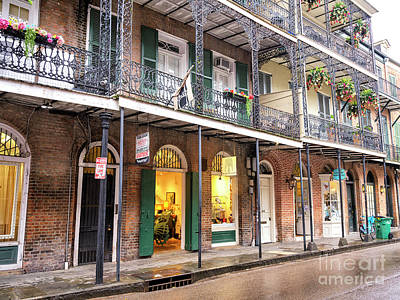 Photograph - Along Chartres Street New Orleans by John Rizzuto