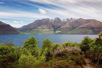 Wall Art - Photograph - Along Lake Wakatipu New Zealand by Joan Carroll