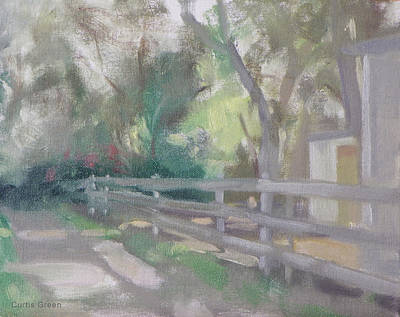 Painting - Along The Botanic Garden Trail by Curtis Green