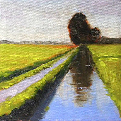 Painting - Along The Canal by Nancy Merkle
