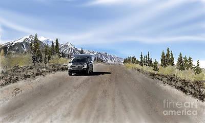 Digital Art - Along The Denali Highway by Joel Deutsch