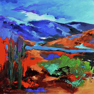 Landmarks Painting Royalty Free Images - Along The Trail - Arizona Royalty-Free Image by Elise Palmigiani
