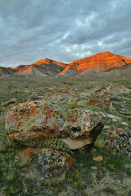 Photograph - Alpen Glow On The Book Cliffs by Ray Mathis