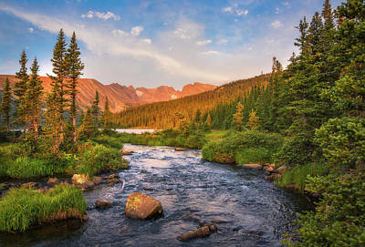 Photograph - Alpenglow Creek by Darren White