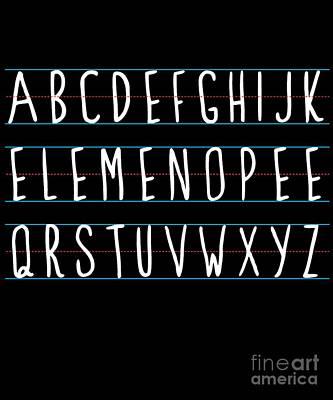 Digital Art - Alphabet Elemeno by Flippin Sweet Gear