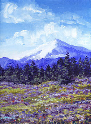 Painting - Alpine Meadow Sketch by Richard De Wolfe