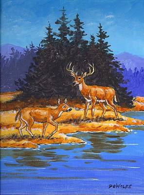 Painting - Alpine Refuge Sketch by Richard De Wolfe