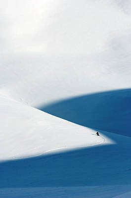 Photograph - Alpine Skier In Norway by Lars Thulin