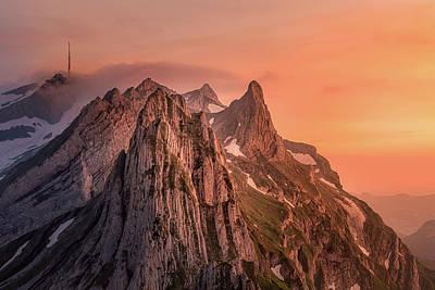 Photograph - Alpstein by Nedjat Nuhi