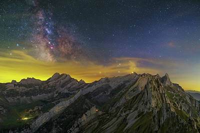 Photograph - Alpstein Nights by Ralf Rohner