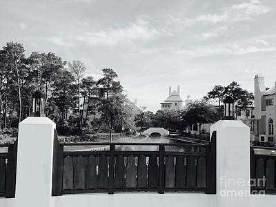 Alys Beach Black And White Art Print