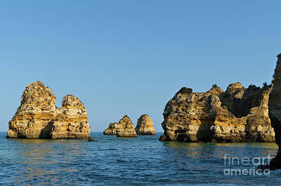 Photograph - Amado Beach Cliffs In Algarve by Angelo DeVal