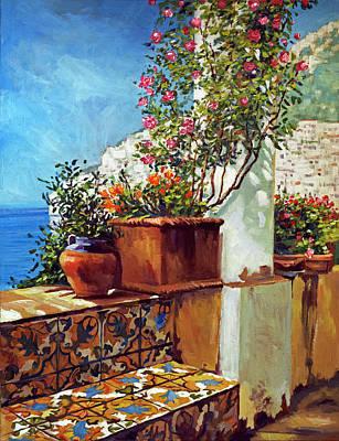Painting - Amalfi Coast Impressions by David Lloyd Glover
