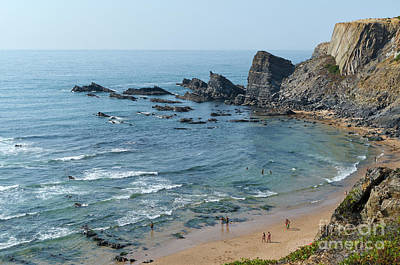 Amalia Beach From Cliffs Art Print