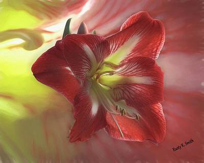 Digital Art - Amaryllis On Amaryllis.. by Rusty R Smith