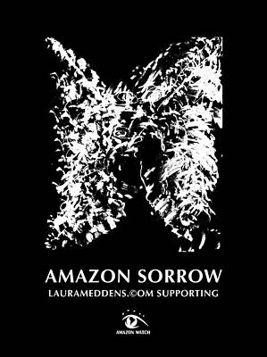 Painting - Amazon Sorrow Coloring Poster by Laura Meddens