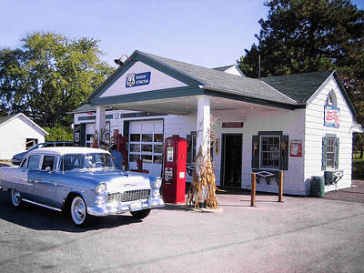 Photograph - Ambler's Texaco Gas Station On Route 66 by Doc Braham